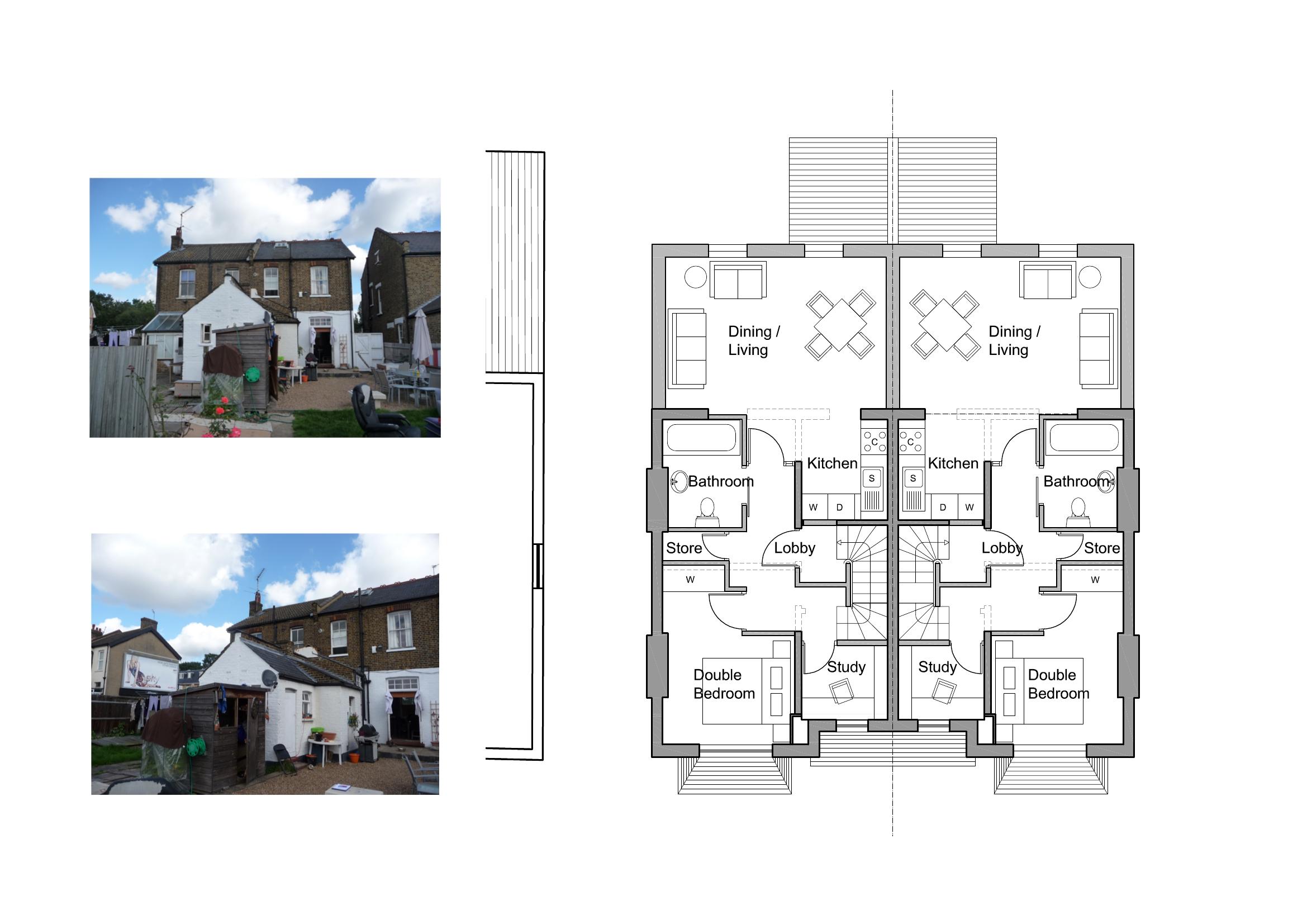 Home extension floor plans house design plans for Extension floor plans