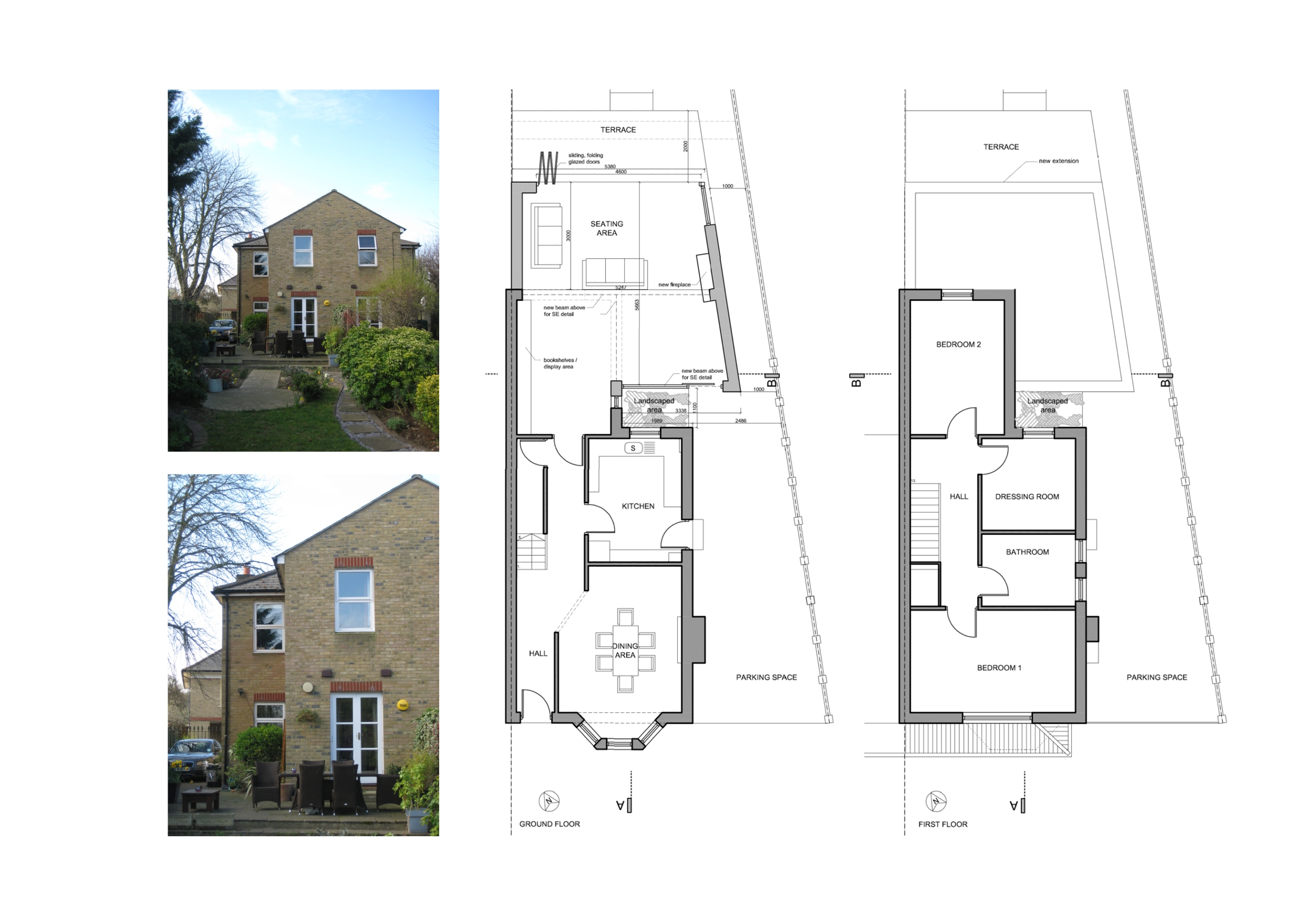 Image gallery house extension plans for Floor plans for a semi detached house extension