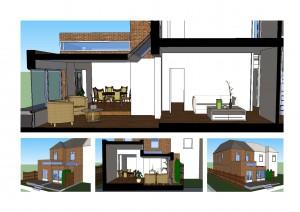 architect designed rear house extension grove park