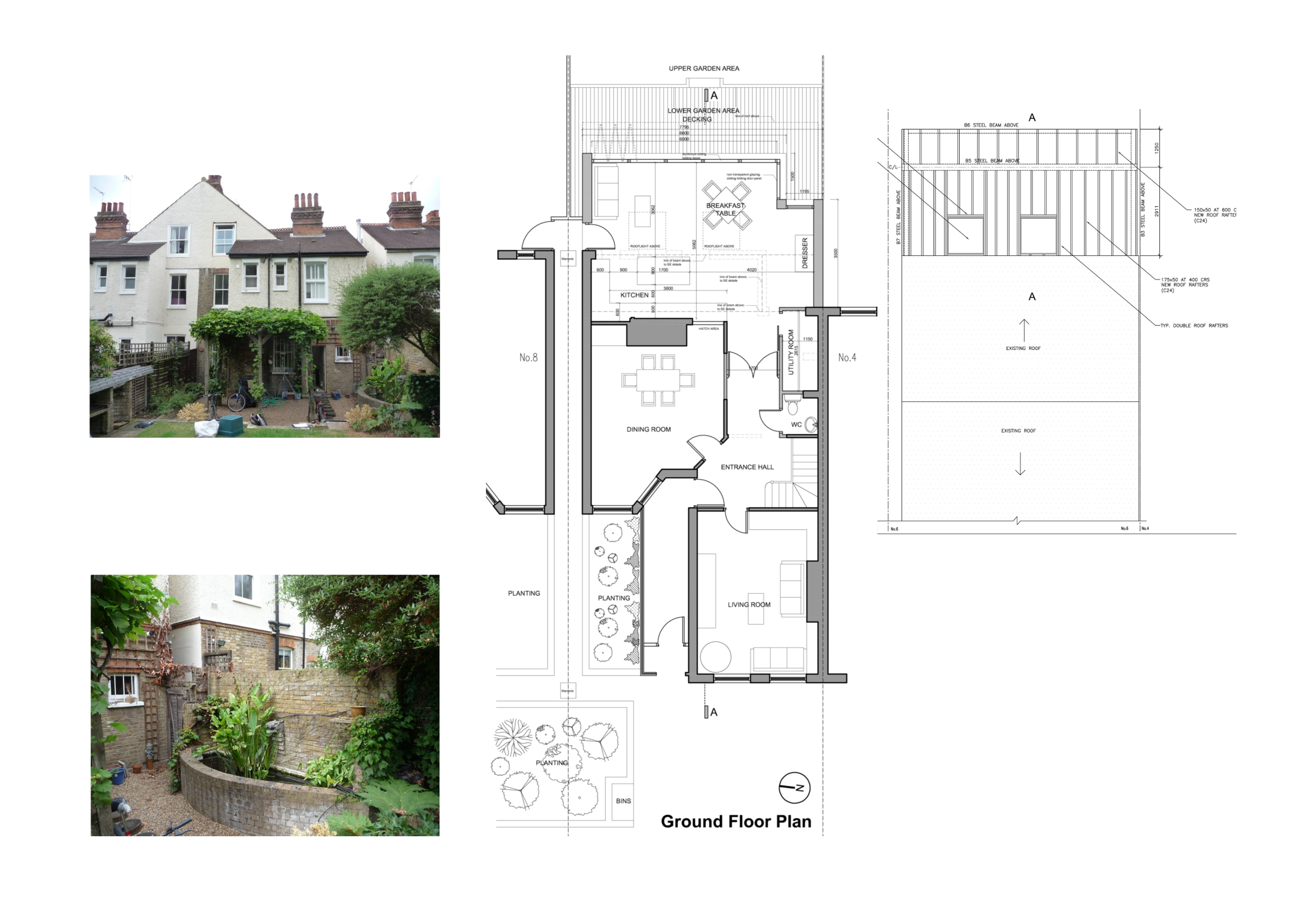 Home design image ideas home extension plans ideas for Floor plans for a semi detached house extension