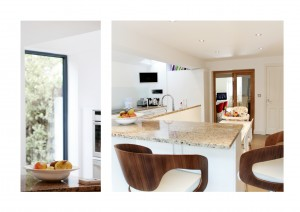 Highbury Islington N5 House extension Side kitchen extension and arrangement of spaces 300x212 Highbury, Islington N5   House extension