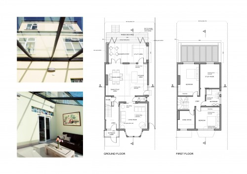 Architect designed rear and side house extensions in london for Floor plans for a semi detached house extension