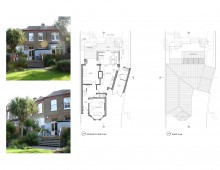Beckenham Junction, Bromley BR3 - Rear house extension - Architectural floor plans