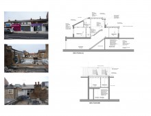 Architect designed flat extension Hammersmith Fulham W12 - Design sections