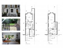 Architect designed rear flat extension Chalk Farm Camden NW5 - Design plans