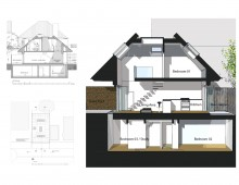 Southfields Wandsworth SW18 residential development - Architect design section