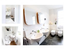 Architect designed mansard roof house extension Angel Islington N1 - Family bathroom ideas
