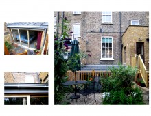 Kings Cross, Islington WC1 - Listed Building rear flat extension - Rear elevation photo