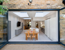 Architect designed Putney Wandsworth SW6 kitchen house extension - View from the garden