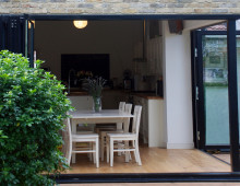 Architect designed house extension East Finchley Barnet N2 - Inside out