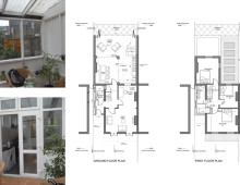 Architect designed house extension Maryland Newham E15 - Floor plans