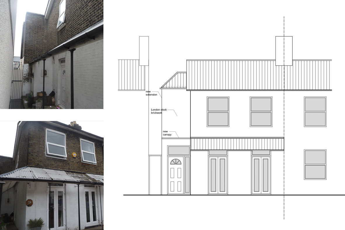 Front Elevation Extension : Architect designed house extension maryland newham e