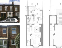 Architect designed rear house extension Finchley Central Barnet N3 - Floor plans