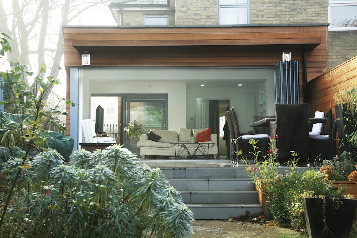 East London Residential Architect house extension Brockley Lewisham SE4 View from the garden East London residential architecture projects
