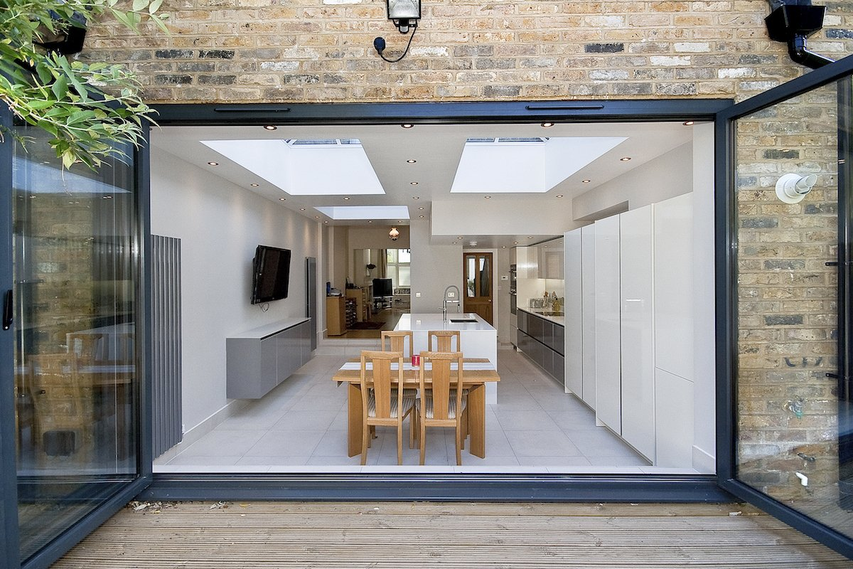 South London Residential Architect Putney Wandsworth SW6 kitchen house extension View from the garden South London residential architecture projects