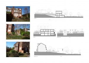02 Highgate Haringey N6 House development Site sections 300x212 Filterable Portfolio of Residential Architecture Projects