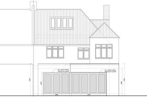 Architect designed rear house extension Muswell Hill Haringey N10 Rear elevation 300x200 Filterable Portfolio of Residential Architecture Projects