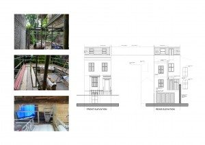 Shepherds Bush Hammersmith Fulham W14 House extension Design front and rear elevations 300x212 Filterable Portfolio of Residential Architecture Projects