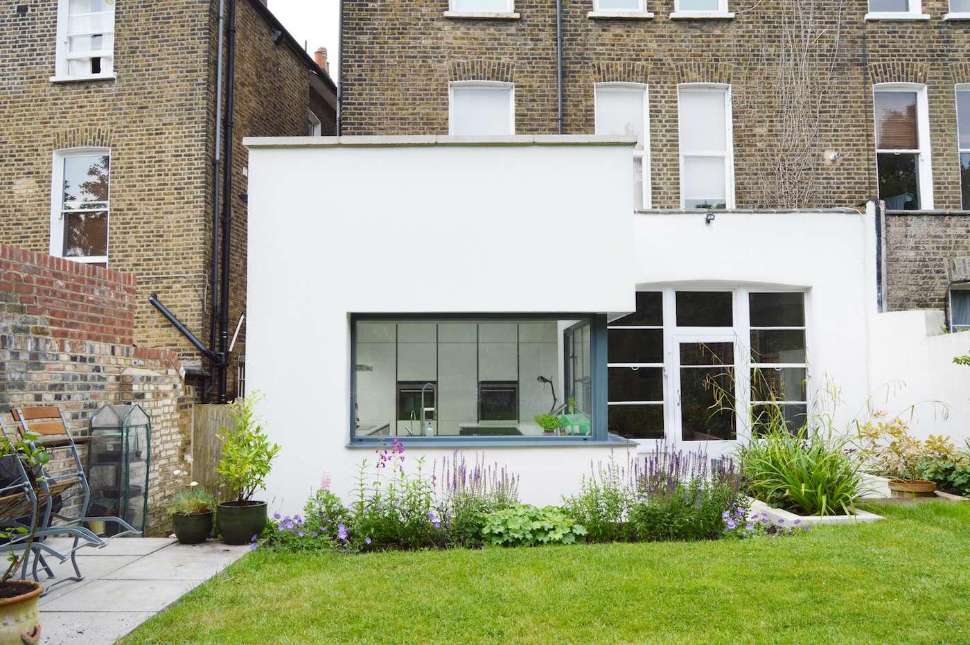 Architect designed garden flat extension Kilburn Brent NW2 External elevation Flat extensions in London | Home ideas
