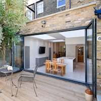 Architect designed Putney Wandsworth SW6 kitchen house extension Connecting to the rear garden Wandsworth residential architect projects