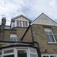 Architect designed house extension Winchmore Hill Enfield N21 Rear elevation and section Enfield residential architect projects