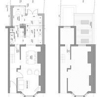 Architect designed rear house extension Finchley Central Barnet N3 Floor plans 1 e1481373215297 East Finchley, Barnet N2 | House extension