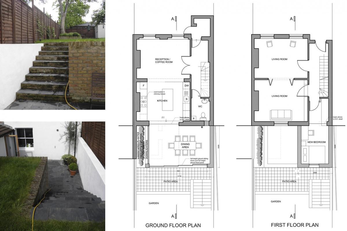 Architect designed two storey house extension Brockley Lewisham SE4 – Design plans 1200x800 Brockley, Lewisham SE4 | Two storey house extension