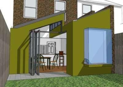Barnes Richmond SW14 – Rear house kitchen extension – 3D image copy 400x284 Portfolio Grid | GOA Studio | London Residential Architecture