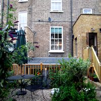 Kings Cross Islington WC1 Listed Building rear flat extension Rear elevation photo Garden flat extensions London | Home design