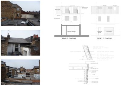 Architect designed flat extension Hammersmith Fulham W12 Design elevations 400x284 Filterable Portfolio of Residential Architecture Projects