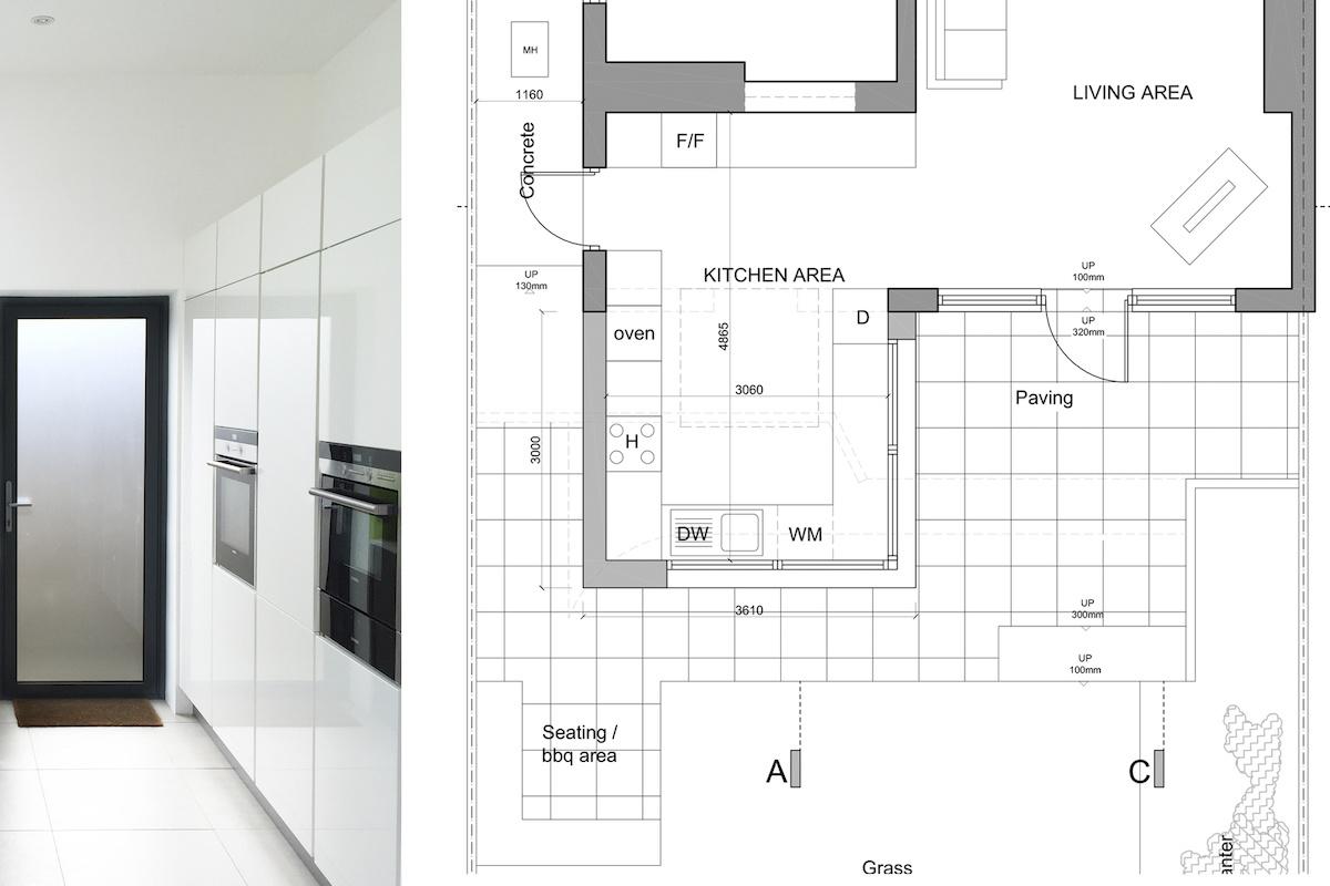 Architect designed garden flat extension Kilburn Brent NW2 Internal view 1200x800 Kilburn, Brent NW2 | Garden flat extension
