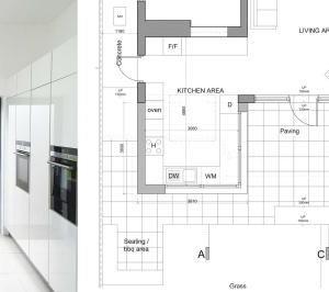 Architect designed garden flat extension Kilburn Brent NW2 Internal view 300x266 Kilburn, Brent NW2 | Garden flat extension