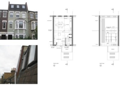 Fulham Broadway SW6 Fulham and Hammersmith Flat alterations to mansard roof Floor plans 1200x800 400x284 Portfolio Grid | GOA Studio | London Residential Architecture