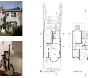 01 Highgate Haringey N8 House extension Lower floor plans 300x266 Highgate II, Haringey N8 | House extension