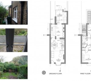 01 St Margarets Richmond TW1 Rear house extension Floor plans 300x266 St Margarets II, Richmond TW1 | House extension
