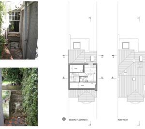 02 Highgate Haringey N8 House extension Upper floor plans 300x266 Highgate II, Haringey N8 | House extension