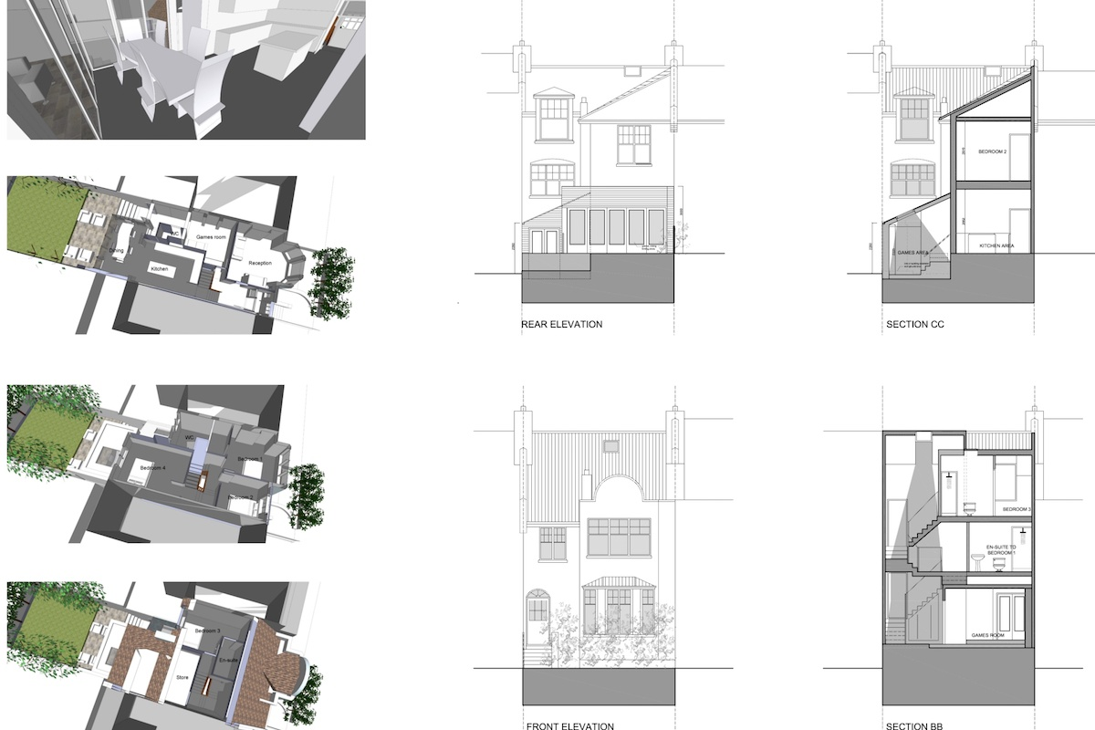04 Highgate Haringey N8 House extension 3Ds sections and elevations 1200x800 Highgate II, Haringey N8 | House extension