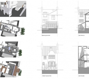04 Highgate Haringey N8 House extension 3Ds sections and elevations 300x266 Highgate II, Haringey N8 | House extension