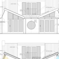3. Architect designed residential extension Stoneleigh KT17 Rear elevation and section Contemporary extensions in London | Home ideas | GOA Studio