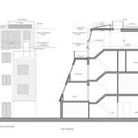 3. Fulham Broadway SW6 Fulham and Hammersmith Flat alterations to mansard roof Elevation and section Mansard roof extensions in London | Home ideas