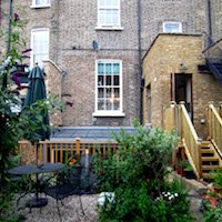 3. Kings Cross Islington WC1 – Listed Building rear flat extension – Rear elevation photo Garden flat extensions in London | Home ideas