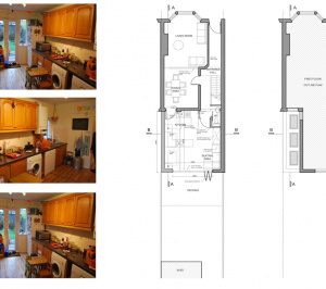 Architect designed Southfields Wandsworth SW18 kitchen house extension Plans 1 300x266 Southfields, Wandsworth SW18 | Kitchen house extension