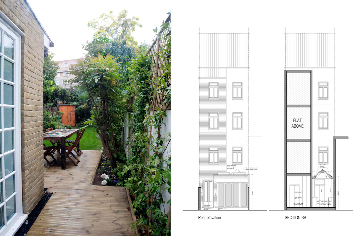 Architect designed flat extension Warwick Avenue Westminster W9 Design elevations 1200x800 Warwick Avenue, Westminster W9 | Flat extension