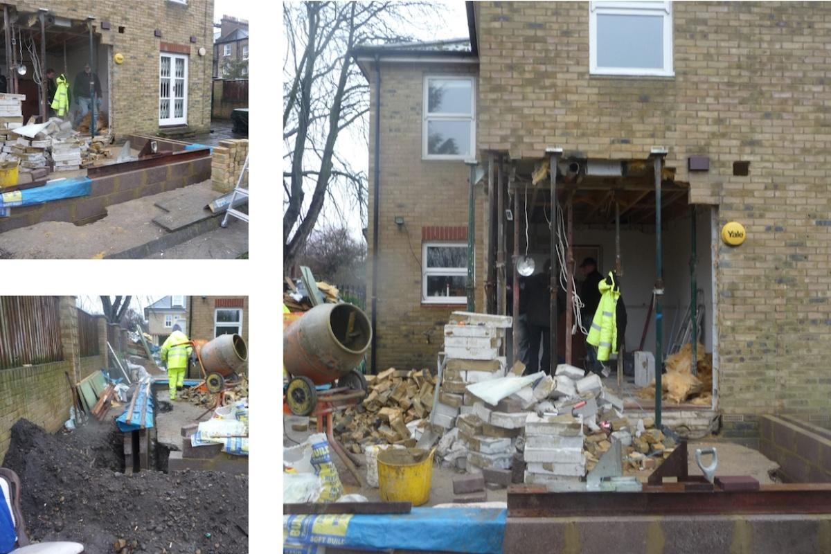 Architect designed house extension Brockley Lewisham SE4 Construction photos 1200x800 Brockley, Lewisham SE4 | House extension