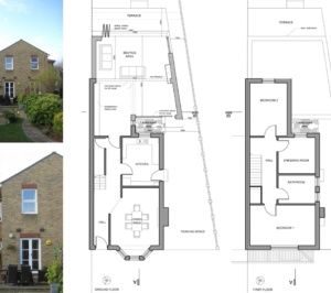 Architect designed house extension Brockley Lewisham SE4 Design floor plans 300x266 Brockley, Lewisham SE4 | House extension