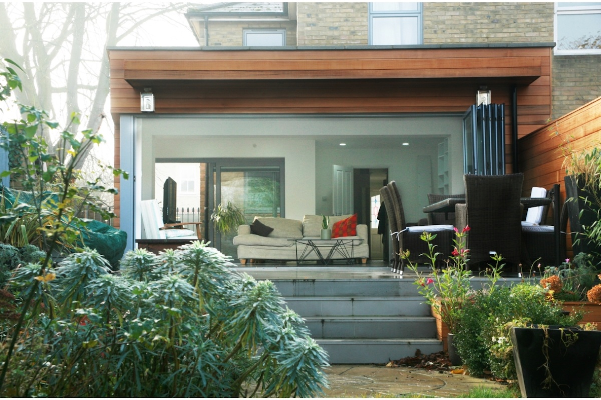 Architect designed house extension Brockley Lewisham SE4 View from the garden 1200x800 Brockley, Lewisham SE4 | House extension