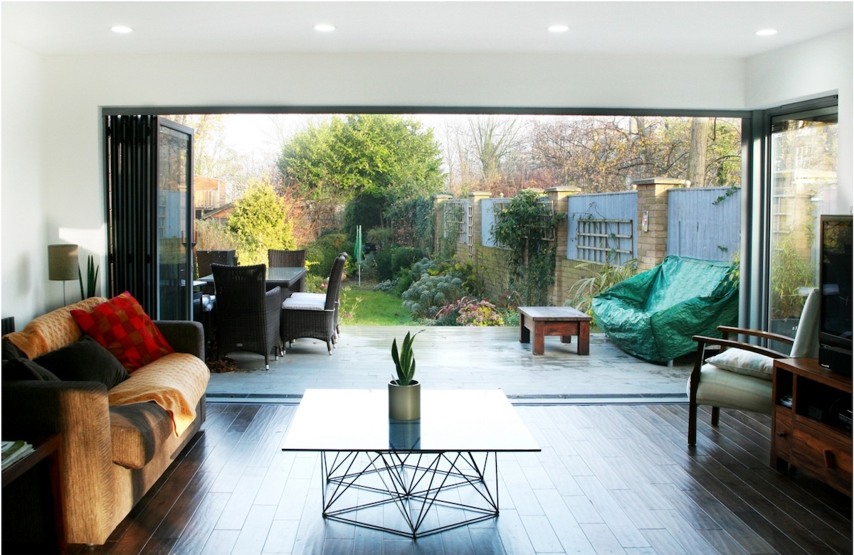 Architect designed house extension Brockley Lewisham SE4 View to the garden 1200x781 Brockley, Lewisham SE4 | House extension