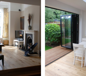 Architect designed house extension East Finchley Barnet N2 Interior spaces 300x266 East Finchley, Barnet N2 | House extension