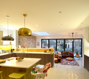 Architect designed house extension Grange Park Enfield N21 Internal view 300x266 Grange Park, Enfield N21 – House extension and alterations