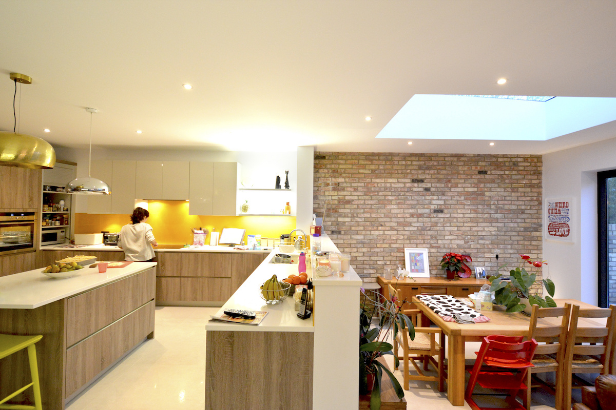 Architect designed house extension Grange Park Enfield N21 Kitchen and dining areas 1 1200x800 Grange Park, Enfield N21 – House extension and alterations